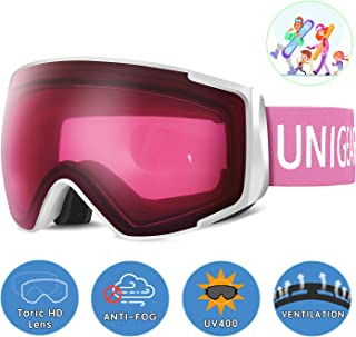 Unigear Skido X2 Ski Goggles, Toric Dual Lens Snowboard Snow Goggles for Kids, Men and Women - OTG & 100% UV Protection