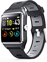 ENACFIRE Smart Watch, W2 GPS Fitness Tracker IP68 Waterproof Smartwatch, Heart Rate..
