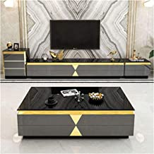 Coffee Table TV Cabinet Combination Living Room Coffee Table Marble Glass TV Cabinet Modern Minimalist Furniture TV Cabine...