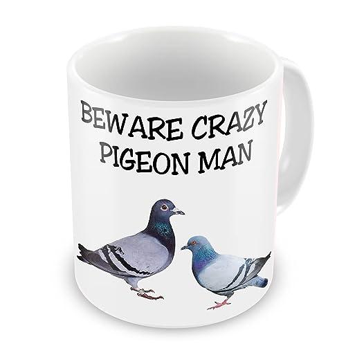 Crazy Pigeon Man Funny Novelty Gift Mug