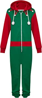 Novelty Unisex Mens Ladies Elf Santa All in One Christmas Onesie Costume Jumpsuit Sizes Small to 4XL