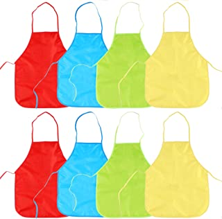 8pcs Delantal Infantil Pintura - PVC Delantales Impermeable Para Pintar Niños Actividades Creativas Panadería Cocina Artesanía 40 X 50 Cm Manualidades Artística Aula Comunitarios Eventos Escolares