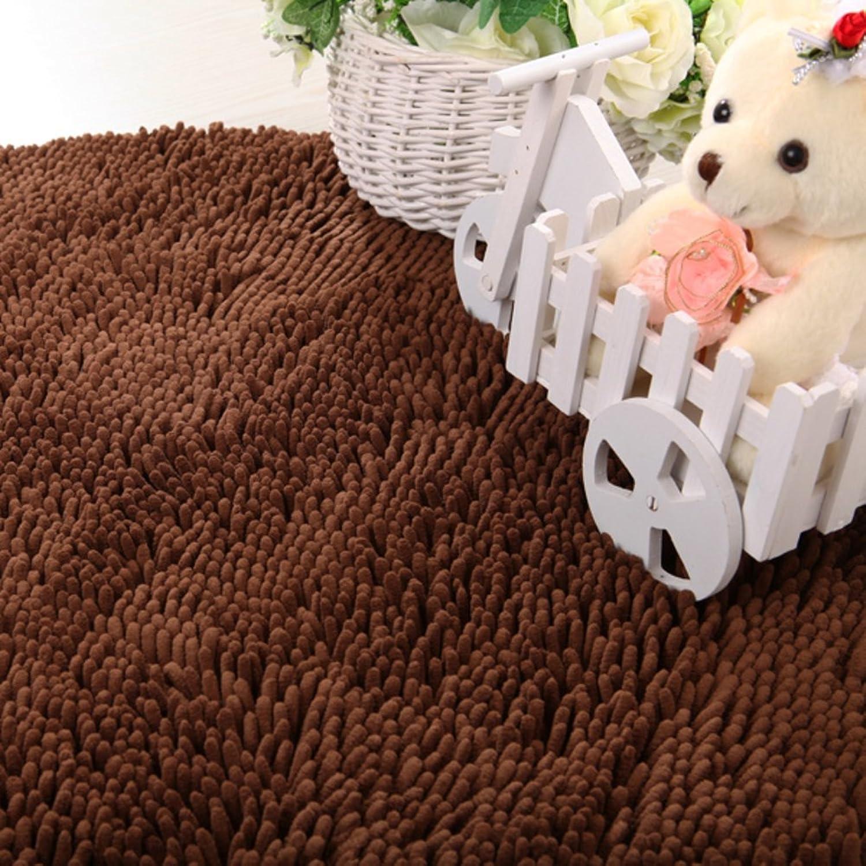 Doormat Long Hair,Thick,Chenille,Bedroom,Living Room,Tea Table,Bedside Blanket Carpet-H 70x140cm(28x55inch)