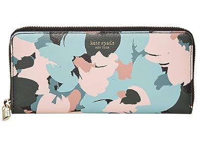 Kate Spade New York Margaux Brush Bloom Slim Continental Wallet (Multi) Wallet