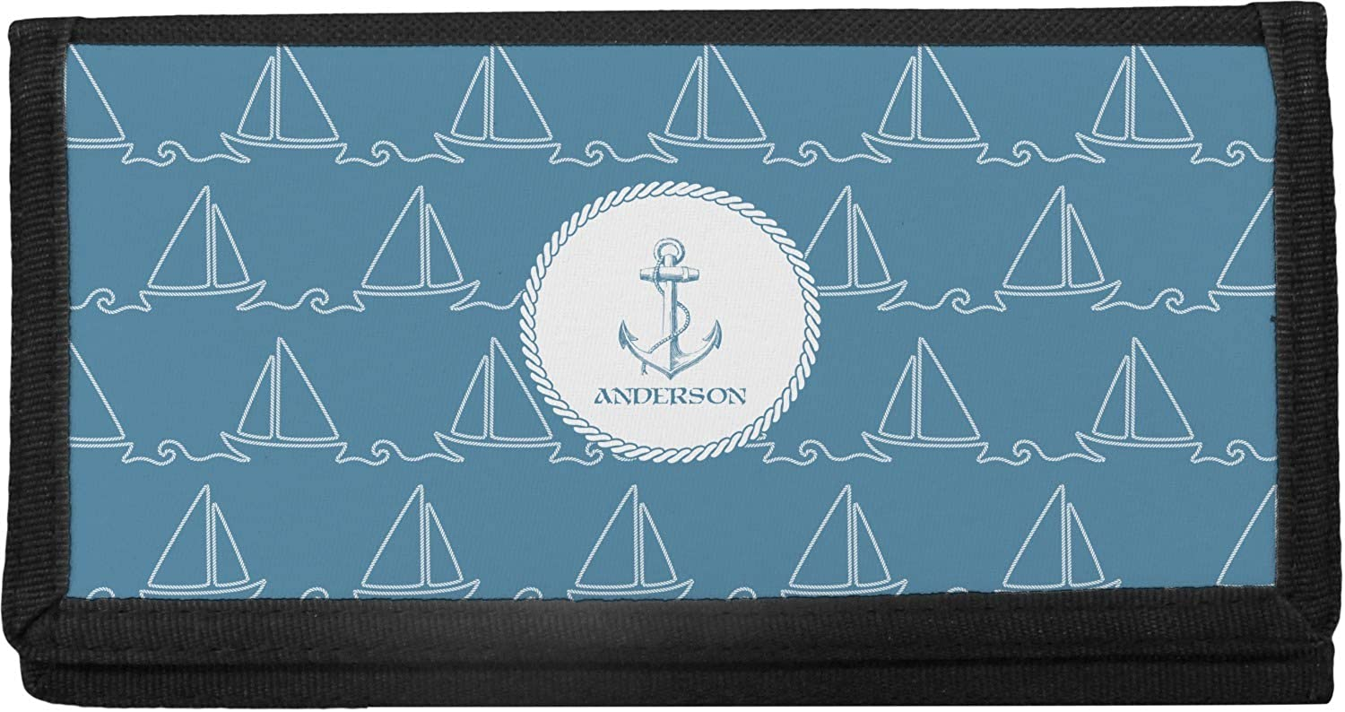 Rope Sail Boats Canvas Checkbook Personalized Fees free!! Cover Max 82% OFF