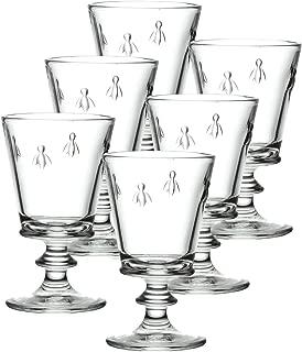 La Rochere Set Of 6, 9-ounce Napoleon Bee  Wine Glasses