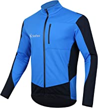 WINSEN Men's Waterproof Cycling Jackets, Warm UP Cycling Jersey Softshell Thermal Bike Tops