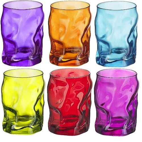 Verres Tumblers Sorgente - coloré - 300 ml - multicolore - lot de 6