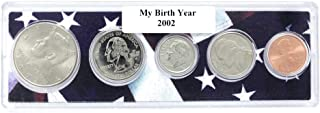 2002-5 Coin Birth Year Set in American Flag Holder Uncirculated