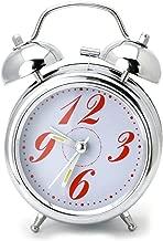 TRIXES Classic Compact Silver Chrome Effect Alarm Clock