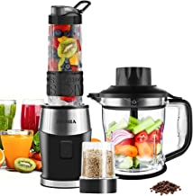 Smoothie Shake Blender, Fochea 3 In 1 Food Processor Multi-Function Kitchen Mixer System,..