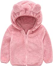 Mousmile Infant Toddler Girl Hooded Coat Cute Bear Ear Padded Thicken Warm Zipper Outwear Kids Clothes