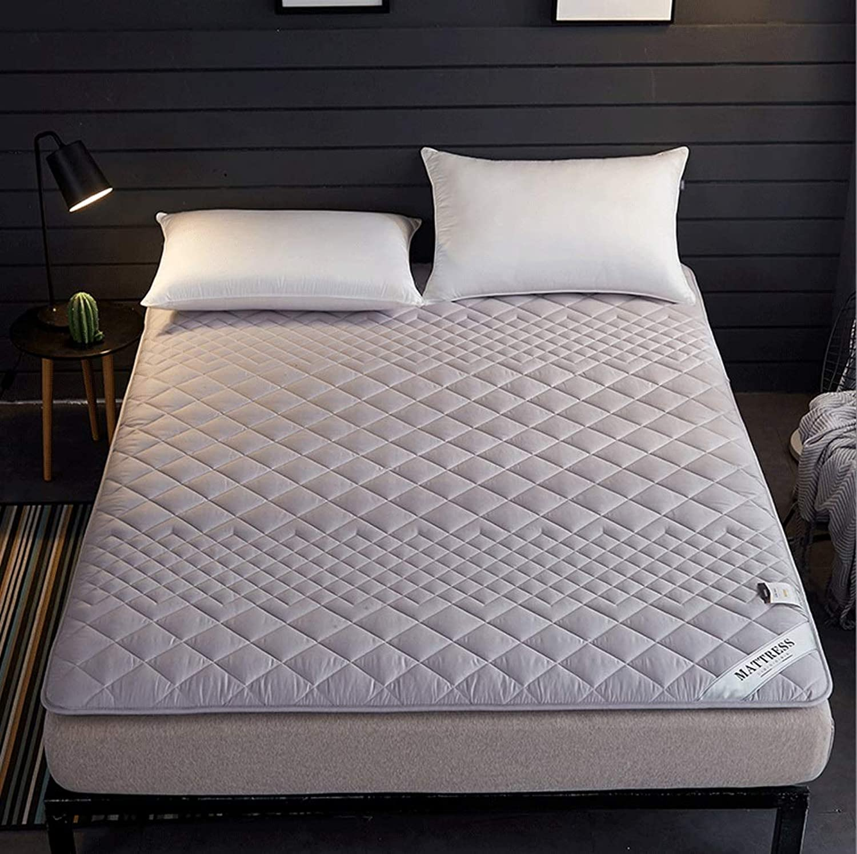 Household Double Mattress, Antibacterial Cotton Pad, Breathable Non-Slip Mat +A (color   B, Size   120CM)