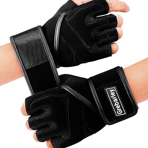 Grebarley Fitness Gloves Gants d'entraînement, haltérophilie légère, idéals pour l'haltérophilie, l'entraînement Cros...