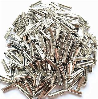 Colorsheng 300 Pcs Shoelace Bullet Metal Ends Aglet Repair Shoe Lace Tips Replacement DIY