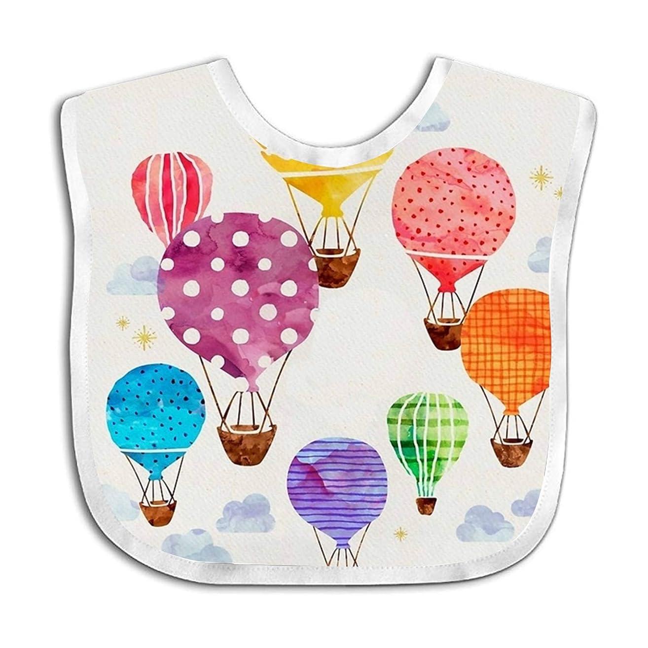 Hot Air Balloon Teething Bib Adjustable Feeding Bibs Soft Gift For Toddlers Waterproof
