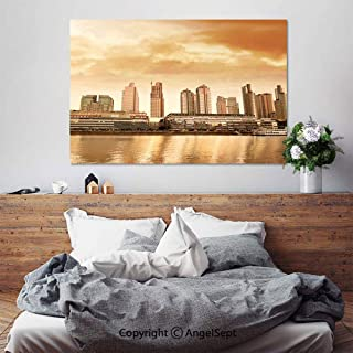 SfeatruAngel_SOSUNG Wall Art for Bedroom Paintings,Argentina Buenos Aires Puerto Madero(20