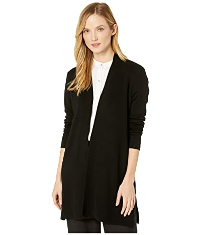 Eileen Fisher Ultrafine Merino Straight Long Cardigan (Black) Women