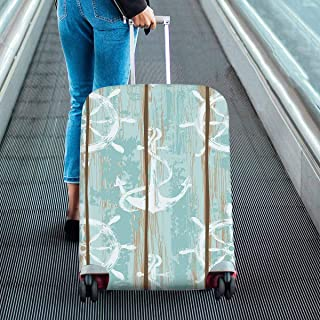 Nautical anchors and wheels print Print on Suitcase Protectors Travel Luggage Covers Fit 18-28 Inch Luggage