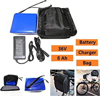 KEANTY Ebike Battery 36V 8Ah Lithium Ion Battery Rechargeable Li-ion Battery for Electric Bike with Charger and Bag [US Stock]