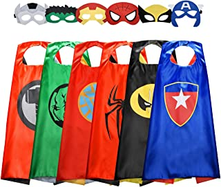 Birthday Presents Gifts for 3-10 Year Old Boys, Cartoon Super Hero Satin Capes Dress up for Kids Party Favor Toys for 3-10 Year Old Boys