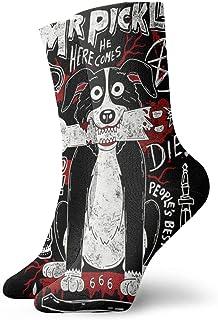 Yuanmeiju calcetines de punto Mr Pickles Unisex Socks Odor Resistant Fashion Crew Socks Personality Socks