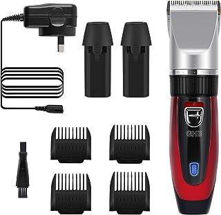 comprar comparacion GHB Cortapelos Electrónico Maquinilla Cortar Pelo Ajustable con 4 Peines 2 baterías Color Rojo Adecuado para Barba y Bigote