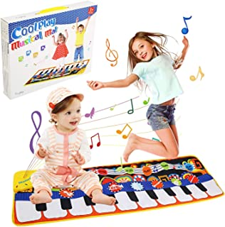 Gift for 2-8 Year Old Kids, Piano Mat for Toddlers, 19 Musical Keyboard Playmat Music Touch Play Dance Mat, Birthday Chris...