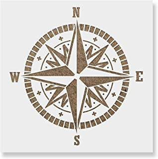 Compass Stencil Template - Reusable Stencil with Multiple Sizes Available