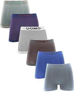 Channo Pack de 4 - Calzoncillos Boxer Lycra sin Costuras con Rayas horizontales