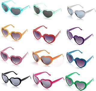 OAONNEA 12 Piezas Neon Gafas de Sol de Colores en Forma para Niños Adultos Favores de Fiesta y Festival
