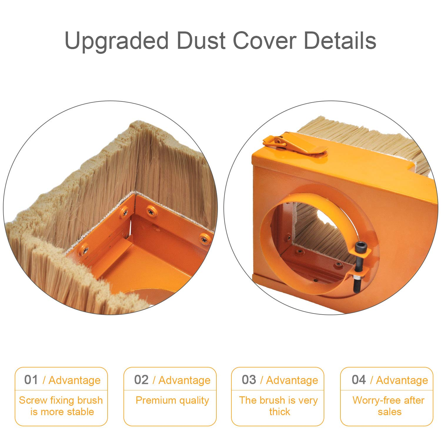 80mm Spindle Dust Cover Daedalus Orange Spindle Dust Shoe Cover Cleaner for CNC Router Engraving Milling Machine