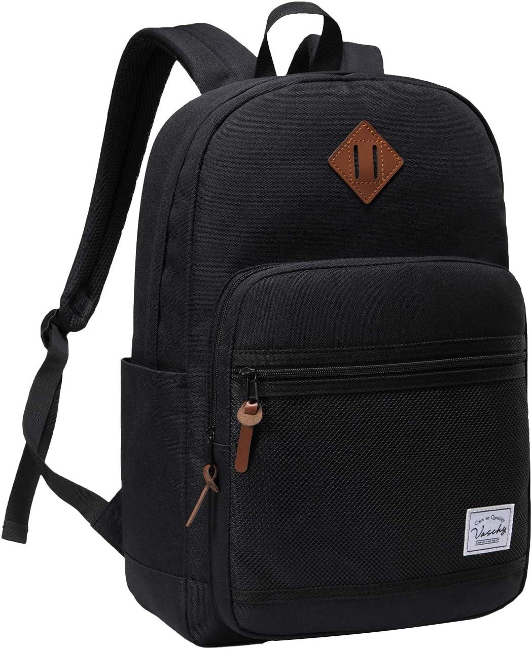 Max 68% OFF School Backpack VASCHY Water Casual Backpa Resistant Popular popular Lightweight