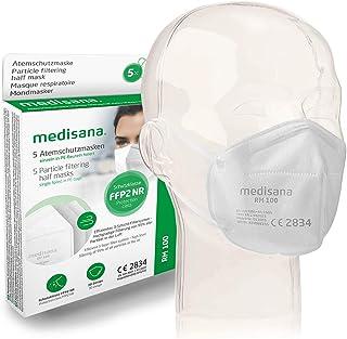 medisana FFP2 adembeschermingsmasker stofmasker ademmasker, RM 100, stofbeschermingsmasker mondbeschermingsmasker 5 stuks ...