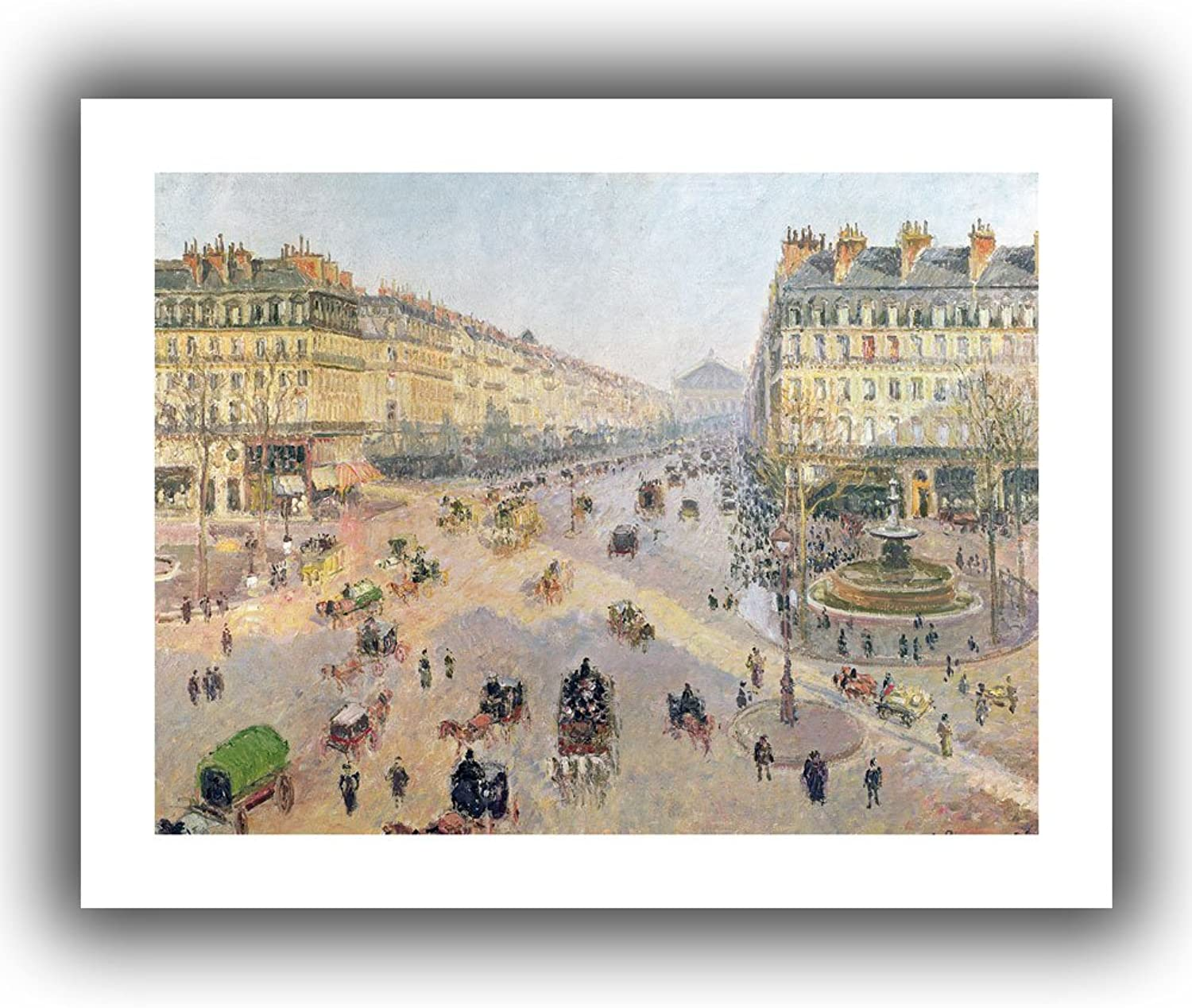 Art Wall The Avenue de L'Opera, Paris, Sunlight, Winter Morning  Unwrapped Canvas Art by Camille Pissarro, 18 by 22-Inch