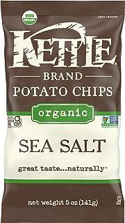 Kettle Brand Potato Chips, Organic Sea Salt, 5 Ounce Bag