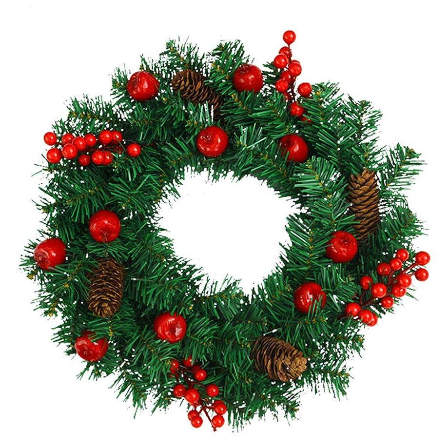 膜長くする静かなクリスマス リース 直径35cm 赤い実 クリスマス オーナメントり付き 贈り物 造花 ギフト 年末 冬 イベント 部屋 玄関 飾り 装飾品