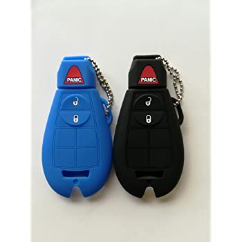 KAWIHEN Silicone Key Fob Cover Protector Keyless Entry Case Holder For Chrysler 300 T/&C Dodge Challenger Durango Grand Caravan Journey Ram Truck 1500-3500 M3N5WY783X IYZ-C01C GQ4-53T 267F-5WY783X