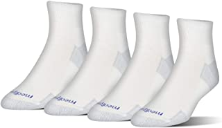 MediPeds Women's Nanoglide Quarter Socks, 4-Pack