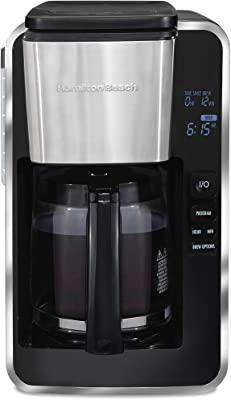Hamilton Beach FrontFill 12-Cup Deluxe Programmable Coffee Cooker, Black (46321)