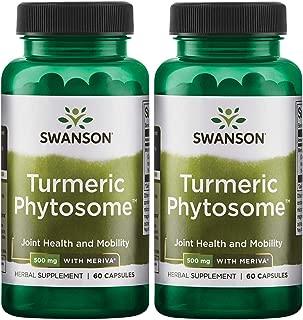 Swanson Turmeric Phytosome with Meriva 500 Milligrams 60 Capsules 2 Pack