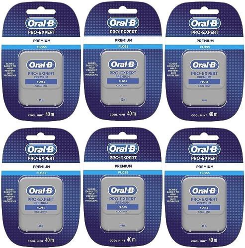 Oral B Pro Expert Lot de 6 fils dentaires de qualité supérieure 40 m