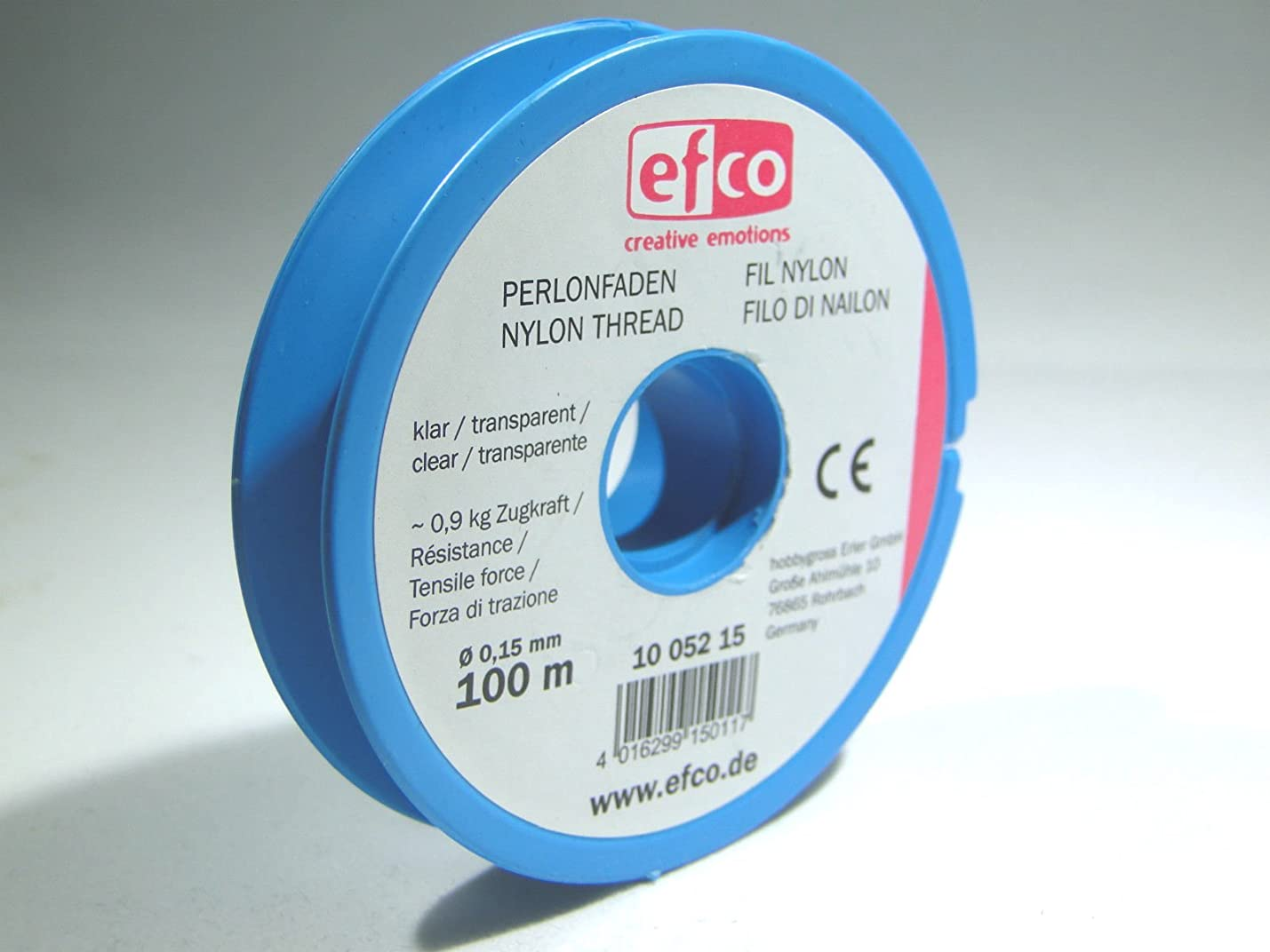Efco Tensile Force Thread, Polyamide, Clear, 0.9 kg, 0.15 mm Diameter, 100 m vwehfbbqiiosw257