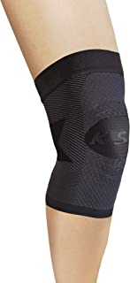 OrthoSleeve KS7 Compression Knee Sleeve (One Sleeve) for Knee Pain Relief, Aching Knees and Arthritis Relief (Black, Small)