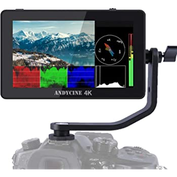 Andycine A6 Plus Camera Monitor, 5.5 Inch Touch 1080P IPS Screen HDMI 4K in&Output Video with 3D LUT Waveform Upgrade V2