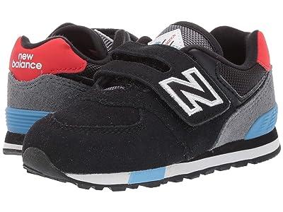 New Balance Kids IV574v1-USA (Infant/Toddler) (Black/Velocity Red) Kids Shoes