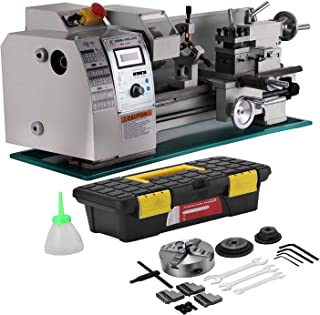 Mophorn 8x16 Inch Metal Lathe 2500RPM 750W Mini Bench Lathe Maintenance Free Variable Spindle Speed Lathe Machine for Mini Precision Parts Processing(Maintenance Free 8 x 16 Inch)