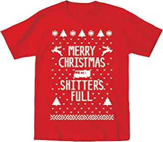 Merry Christmas Shitters Full Funny Ugly Christmas Sweater Contest Party Xmas Holiday Vacation Toddler Shirt