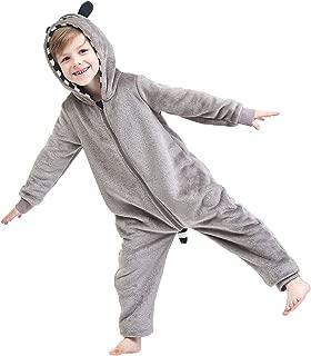 Kids Animal One-Piece Pajamas Costume Hooded Cosplay Onesies Plush Sleepwear for Girls & Boys Size 2-14