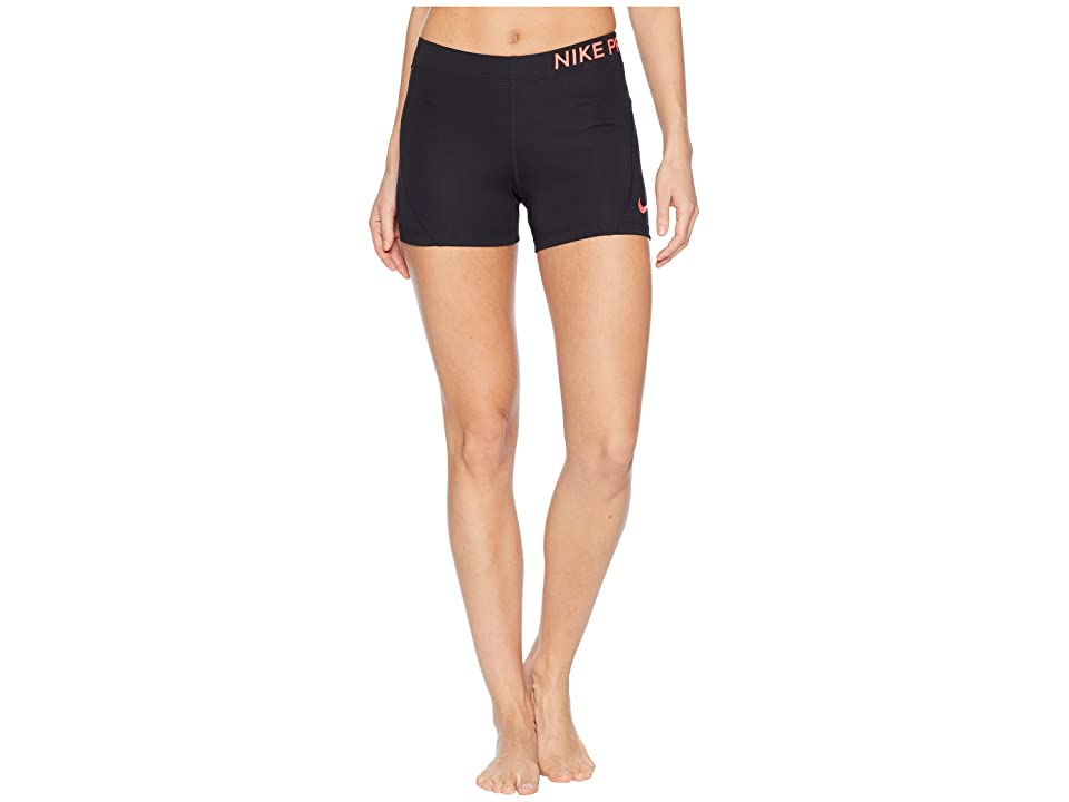 Nike Pro 3 Training Short (Black/Racer Pink) Women